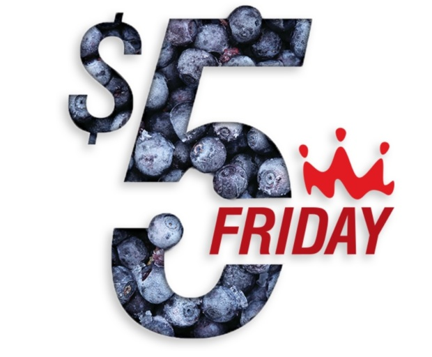 Five dollar friday graphic