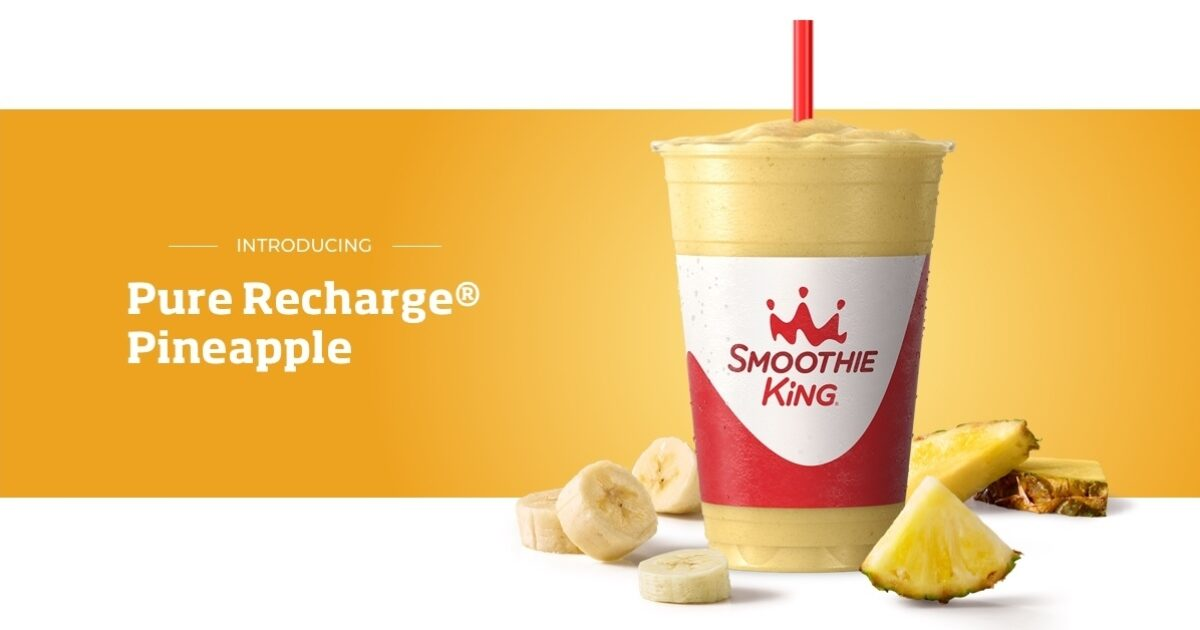 Perk up  Power on with Pure Recharge® Pineapple  | Smoothie King