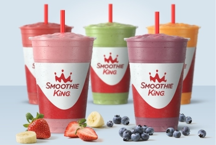group smoothie shot with ingredients